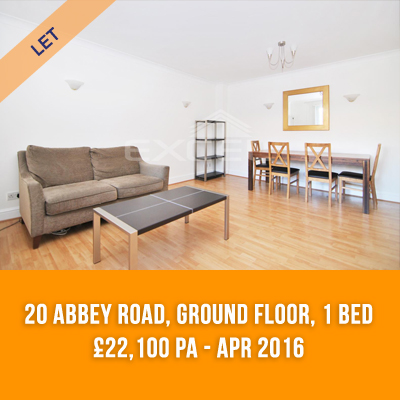 (1) 20 ABBEY ROAD, GROUND FL, 1-BED £22,100 PA - APR 16