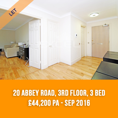 (10) 20 ABBEY ROAD, 3RD FLOOR, 3-BED £44,200 PA - SEP 16