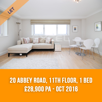 (12) 20 ABBEY ROAD, 11TH FLOOR, 1-BED £28,900 PA - OCT 16