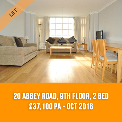 (14) 20 ABBEY ROAD, 9TH FLOOR, 2-BED £37,100 PA - OCT 16