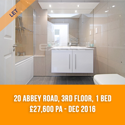 (15) 20 ABBEY ROAD, 3RD FLOOR, 1-BED £27,600 PA - DEC 16