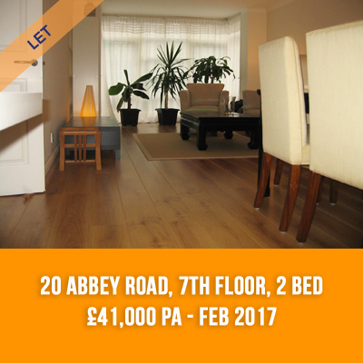(16) 20 ABBEY ROAD, 7TH FLOOR, 2-BED £41,000 PA - FEB 17