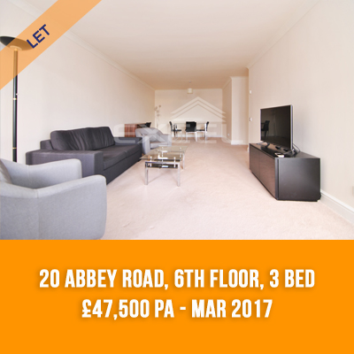 (17) 20 ABBEY ROAD, 6TH FLOOR, 3-BED £47,500 PA - MAR 17