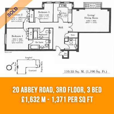 (18) 20 ABBEY ROAD, 3RD FLOOR, 3-BED £1.632 M - £1371 PER SQ FT