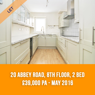 (2) 20 ABBEY ROAD, 8TH FLOOR, 2-BED £39,000 PA - MAY 16