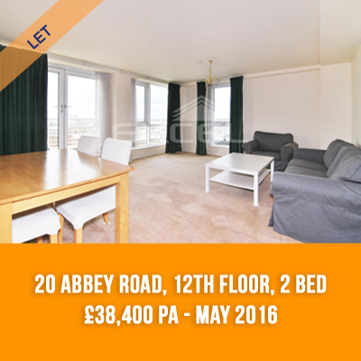 (3) 20 ABBEY ROAD, 12TH FLOOR, 2-BED £38,400 PA - MAY 16