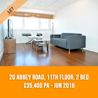 (4) 20 ABBEY ROAD, 11TH FLOOR, 2-BED £35,400 PA - JUN 16
