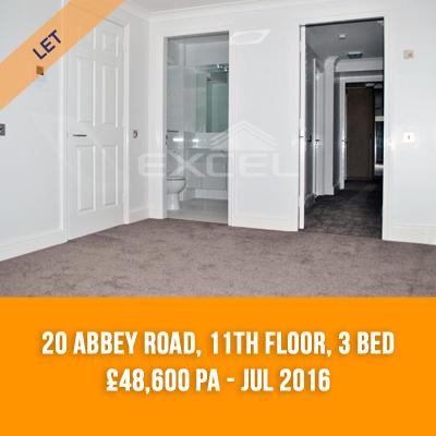 (6) 20 ABBEY ROAD, 11TH FLOOR, 3-BED £48,600 PA - JUL 16