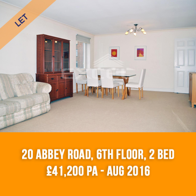 (9) 20 ABBEY ROAD, 6TH FLOOR, 2-BED £41,400 PA - AUG 16
